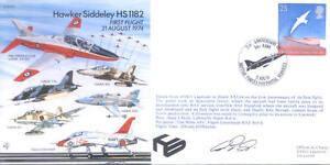 EJA S1 Hawker Siddeley HS1182 Hawk 1st Flight signed cover