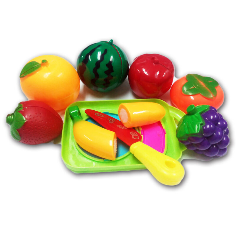 1 SET Fruit Vegetable Cutting Kitchen Knife Fun Toy Gift Tools For Baby Kids LOT