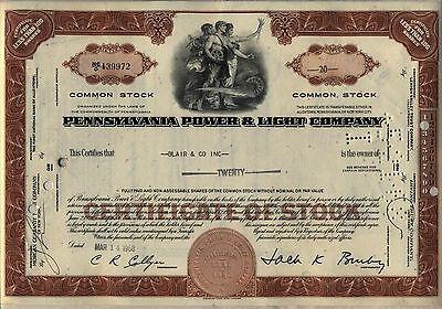 The Scranton Electric Company /> Pennsylvania utilitiy stock certificate share