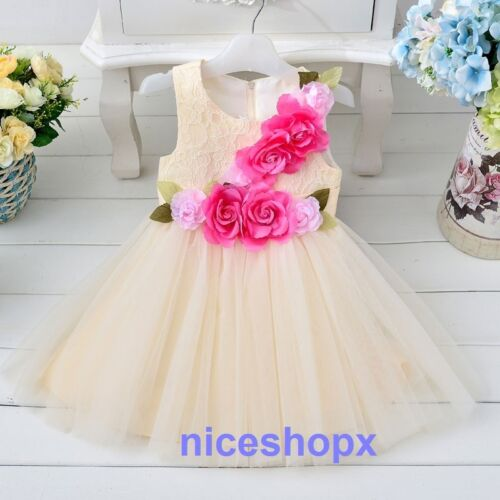 47 Girls Flower//Bridesmaid//Party//Princess//Prom//Wedding//Christening Dress