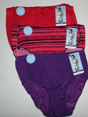 NWT set of 3 JOCKEY covered waistband BRIEF 100/% cotton PURPLE BLUE PRINT