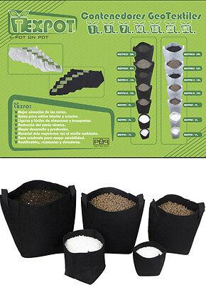 Macetas de Tela Tex Pot de varias medidas y en colores Blanco o Negro Cultivo