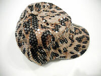 Sequin Hat Baseball Cap Leopard Adjustable Bling Women Girls Sports Fashion