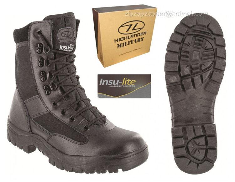 Combattere da Uomo Nero CADET Militare Esercito PATROL escursionismo CADET Nero metà pelle lavoro Boot 4-12 5f5918