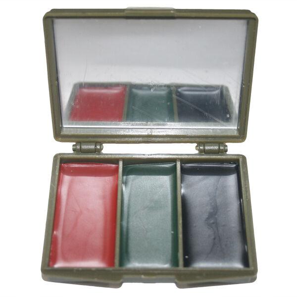Pintura de la Cochea Camo 3 Color Camuflaje Militar Negro Marrón verde Caja Compacta SAS