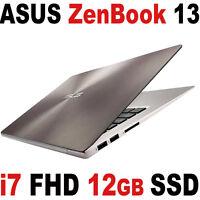 512gb Ssd Asus Zenbook 13 Fhd 13.3 Touch I7 12gb Backlit Ux303ua Laptop Bt