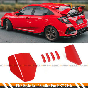Black, with Base Archaic Spoiler for 2016-2021 Honda Civic ...