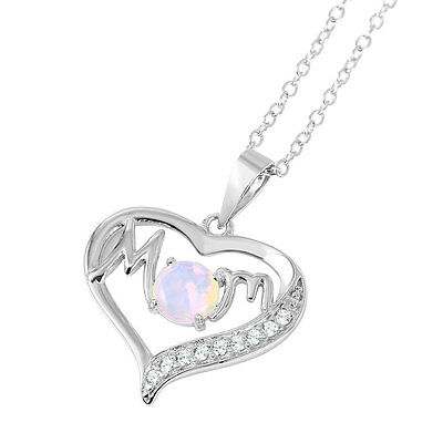 """Heart Rose Gold IP Sterling Silver Pendant with 18/"""" Chain Necklace Gift Box K69"""