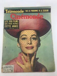CINEMONDE #1260 French Magazine PIER ANGELI COVER 1950s Sophia Loren VERY RARE