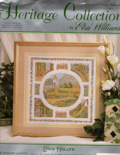 COUNTED CROSS STITCH KIT HERITAGE COLLECTION THE ENGLISH GARDEN NIP