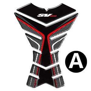 Color : A Nouveau Pad r/éservoir de moto 3D Protecteur Decal Stickers cas for Suzuki SV650 SV650S SV650X SV 650 R/éservoir Toutes les ann/ées