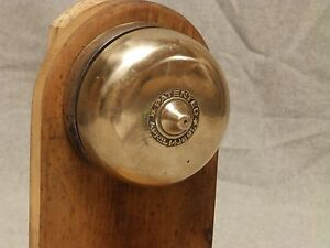 Image Is Loading Antique Cast Iron Brass Turn Key Door Bell