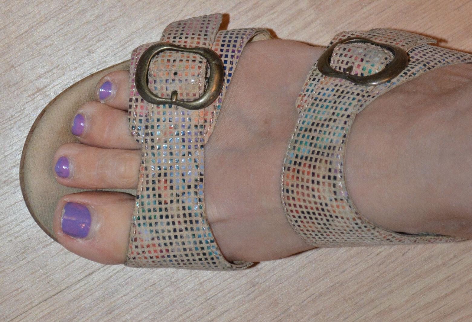 Dansko Sophie Sandalia de de de cuña para mujer, Arena vidrieras 39 8.5 Grandes Zapatos  tienda de descuento