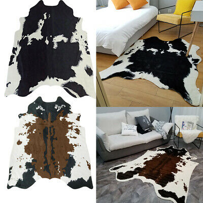 Large Faux Cow Hide Rug Leather Rugs