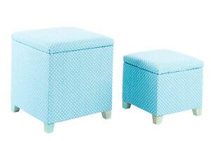 Panca Contenitore Tessuto : Pouf panca contenitore set pezzi quadrato impilabili in