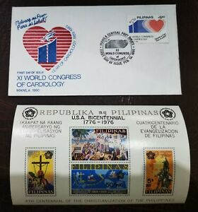 PHILIPPINES FIRST DAY ISSUE: 1990 XI WORLD CONGRESS OF CARDIOLOGY