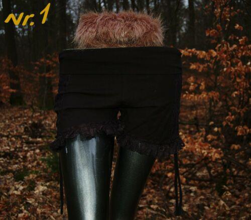Hot Pants Damen Shorts Hippie Hot Pants Spitze Flippige Hot Shorts Kurze Hose