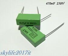 Condensatore 220n 0.22uF 250V MKT-P X2 Poliestere Box 7x17x25mm QTY: 10 Pezzi