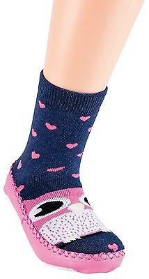 Choza de zapatos Calcetines mit suela cuero, Kids Home Motivos CH-2076
