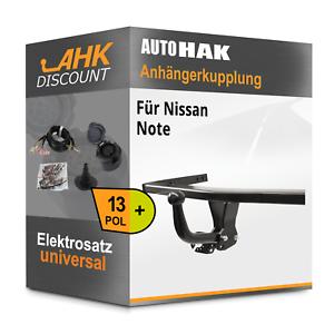 Fuer-Nissan-Note-03-2006-09-2013-AUTO-HAK-Anhaengerkupplung-starr-13polig-E-Satz
