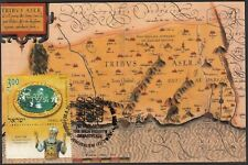 JUDAICA - ISRAEL Sc # 1936 MAXIMUM CARD TRIBES of ISRAEL, MAP of TRIBE of ASHER