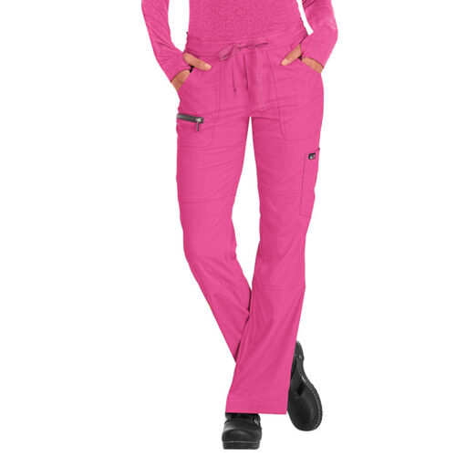 NWT KOI Lite Peace Women White Cargo Scrub Pants Style 721-01