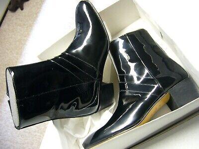 Herren Stiefelette mit erhöhtem Absatz Schwarz Lack Made in Spain Größe 41 | eBay