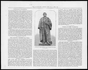 1881-Antique-Print-PORTRAIT-Statue-Reverend-Norman-Macleod-78