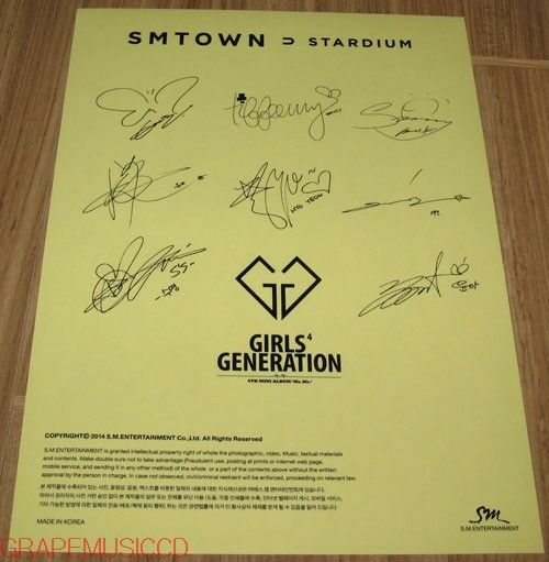 GIRLS' GENERATION SMTOWN STARDIUM SM OFFICIAL GOODS AUTOGRAPH SIGNATURE STICKER