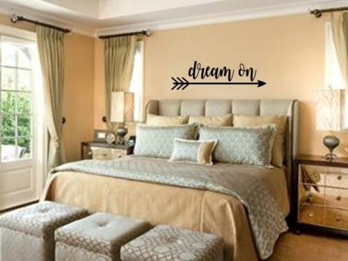 DREAM ON Bedroom Vinyl Wall Art Decal Sticker Decor Lettering Quote Mural