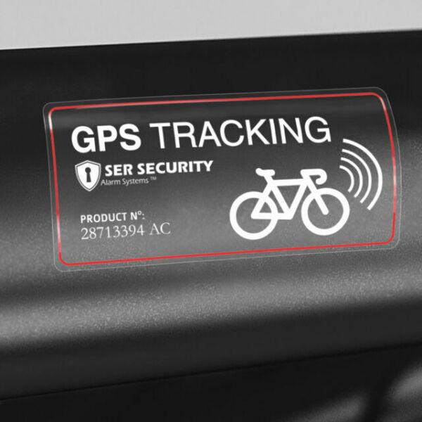 2x SECURITY STICKER Bike GPS Tracking Device Warning Bicycle Smart Heavy Lock