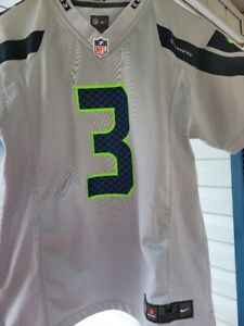 Details about Nike Seattle Seahawks Russell Wilson Gray Jersey Youth M 10-12