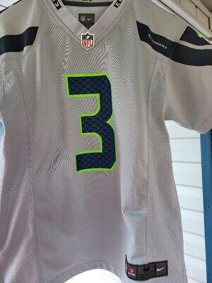 Nike Seattle Seahawks Russell Wilson Gray Jersey Youth M 10-12 | eBay
