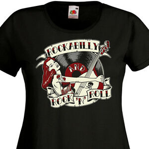 tee shirt femme rockabilly and rock 39 n 39 roll pin up retro. Black Bedroom Furniture Sets. Home Design Ideas