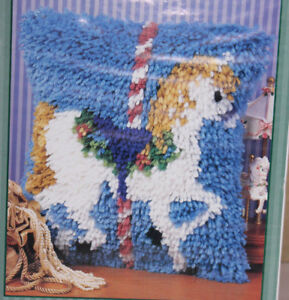 Image Is Loading Carousel Latch Hook Rug Kit From Caron 12