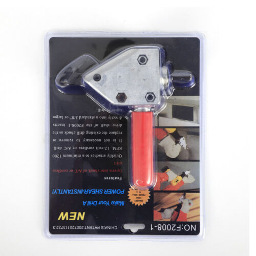 Nibble Metal Steel Sheet Shears Saw Cutter Cutting Electric Drill Scissors US