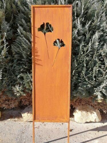 Edelrost Sichtschutz Paravent Ginkgo Sichtschutz Garten Sichtschutzzaun Terrasse