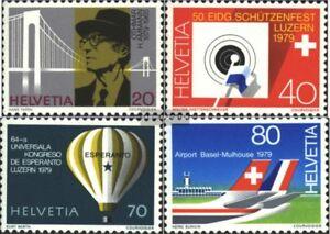 Schweiz-1150-1153-kompl-Ausgabe-postfrisch-1979-Jahresereignisse