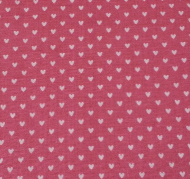 """1 yd 20"""" Off-White Hearts on Dusty Pink The Kesslers for Concord"""