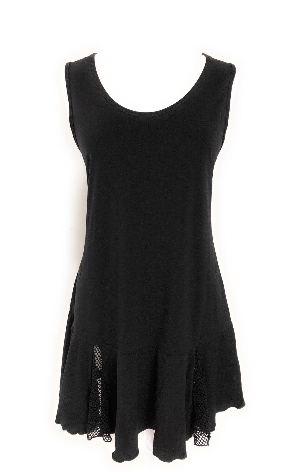 Jordan Taylor Damen Schwarz Netz Rand Strandbedeckung Bademode Tunika Kleid Nwt