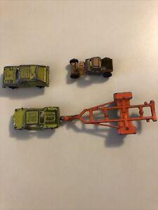 Lot-of-4-Vintage-TOOTSIETOY-Diecast-Miniature-Cars-Trucks-Boat-Trailer