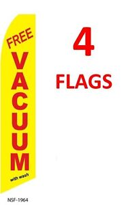 4 four FLOORING yellow 11.5/' SWOOPER #3 FEATHER FLAGS BANNERS