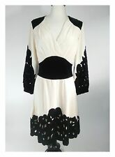 Temperley London Exclusive Embroidery Silk Ivory Dress Sz 6 UK10