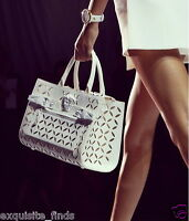 Versace Palazzo Perforated Leather Tote Bag