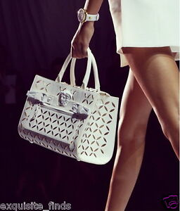 Image is loading NEW-VERSACE-PALAZZO-PERFORATED-LEATHER-TOTE-BAG 1747323ec1b72