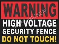 High Voltage Security Fence Sign - Stop Theft & Vandalism -protect Yours
