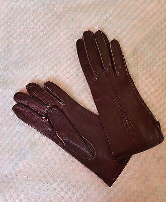 Qualità Al 100% Vintage Retro 'eleganta' Guanti In Pelle Colore Nero Taglia 6.5 Piccoli-mostra Il Titolo Originale