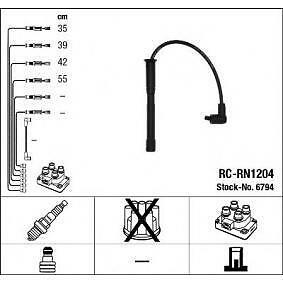 Cables-bujia-encendido-NGK6794-RCRN1204-Ignition-cable-kit-NISSAN-RENAULT