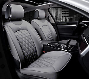 Pleasing Details About Deluxe Pu Grey Leather Front Seat Covers Padded For Land Range Rover Evoque Squirreltailoven Fun Painted Chair Ideas Images Squirreltailovenorg