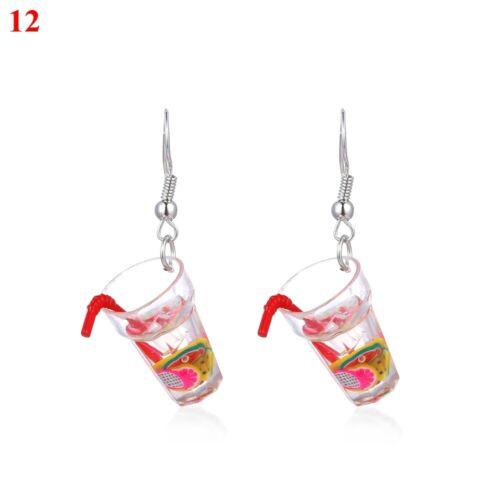 bubble tea boucles d/'oreilles crochet des bijoux bouteille de vin étalon